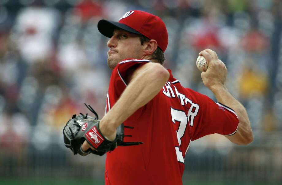 Nationals starting pitcher Max Scherzer tossed a no-hitter against the Pirates on Saturday. Photo: Alex Brandon — The Associated Press  / AP