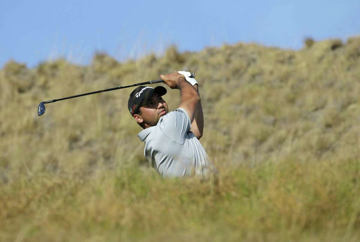Jason Day watches his tee shot on the 17th hole during the third round of the U.S. Open on Saturday.