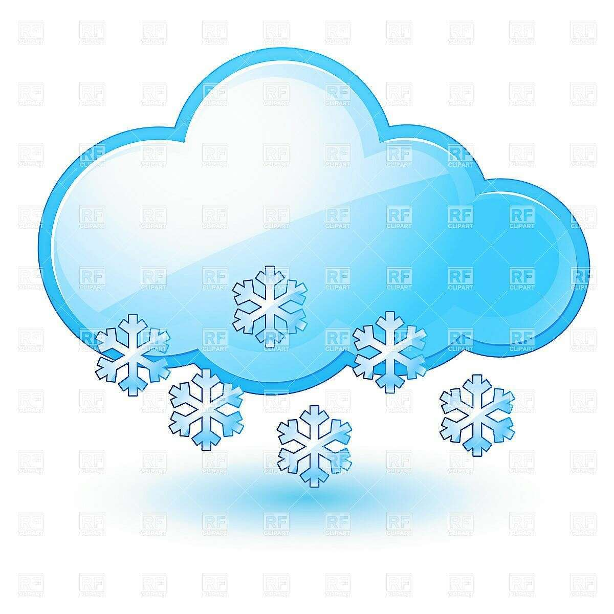 Single weather icon - Cloud with Snow. Illustration on white