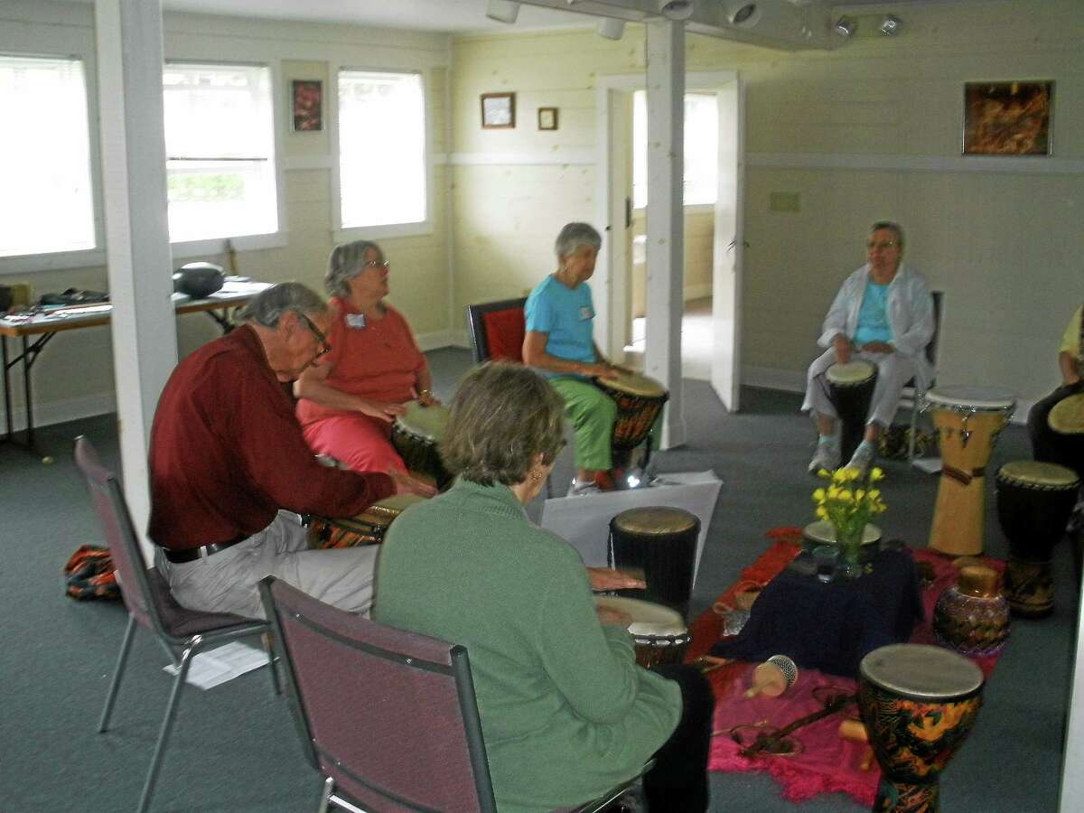 Wisdom House of Litchfield held a Spiritual Drumming retreat over the weekend with Susan Strand leading the drumming circle on Saturday, June 20, 2015..