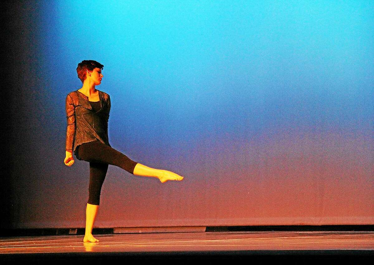 Contributed photo Student Gretchen Kinkel rehearses for the Dance Slam at Westover School.