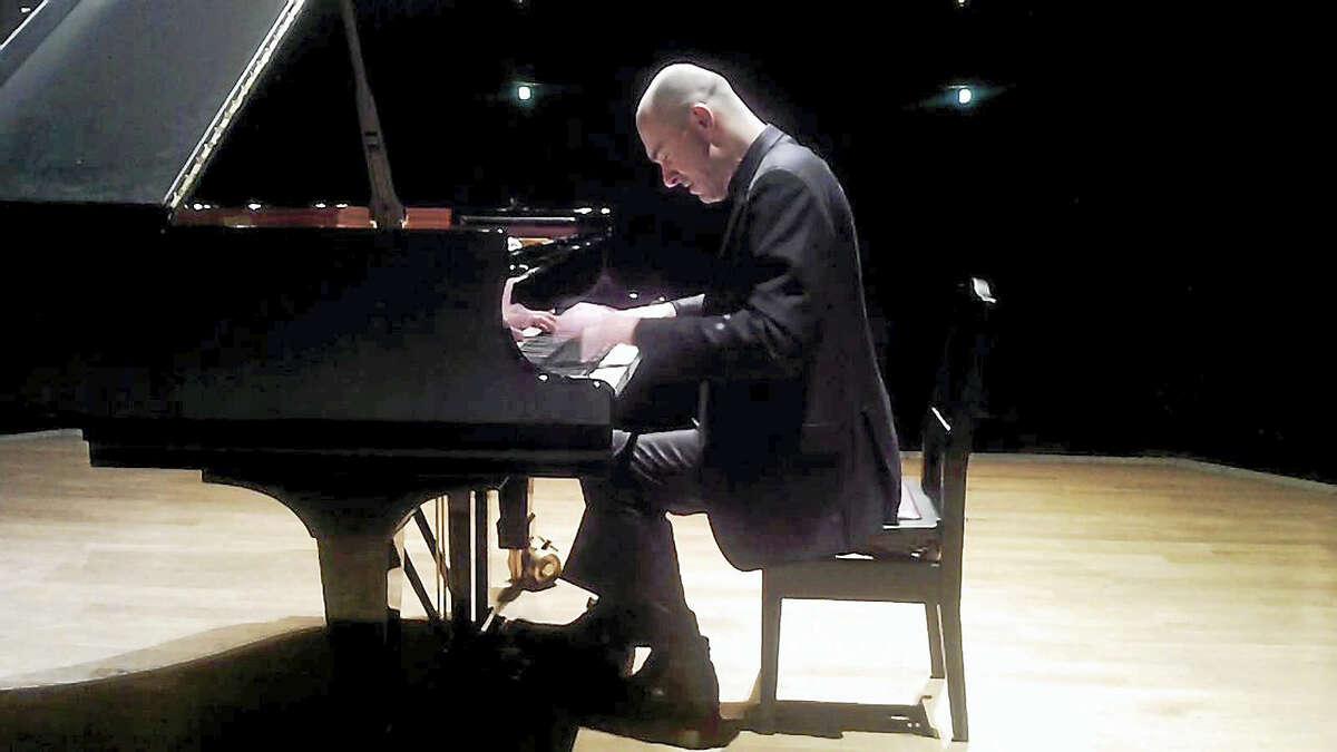 "Nick van Bloss at the piano; he'll play Beethoven's ""Emporer"" concerto."