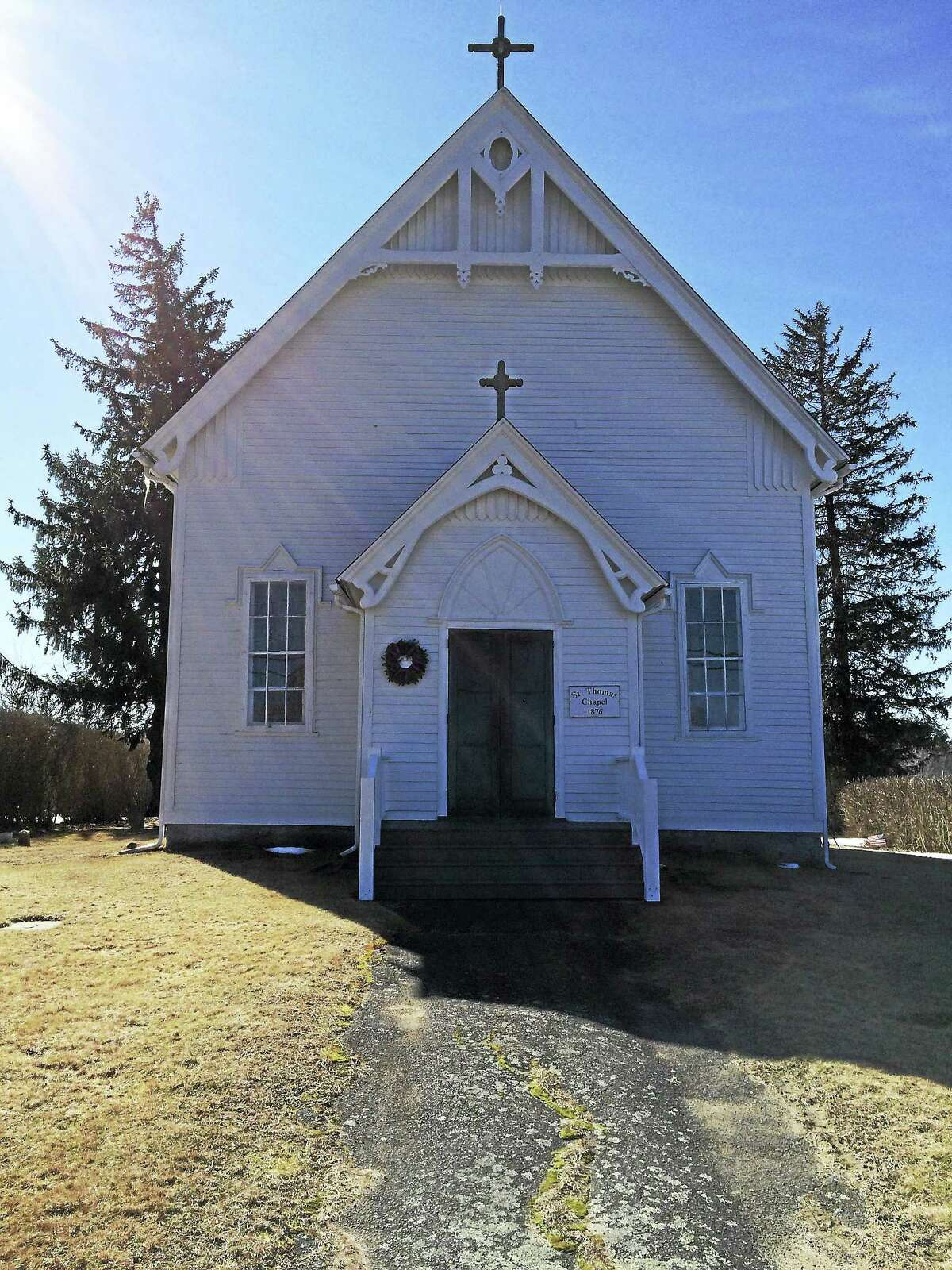 The St. Thomas of Villanova Chapel in Goshen, maintained by a group of dedicated volunteers, benefits from the group's annual flea market. The 15th annual market will be held Saturday, Feb. 27, at the church in Goshen.