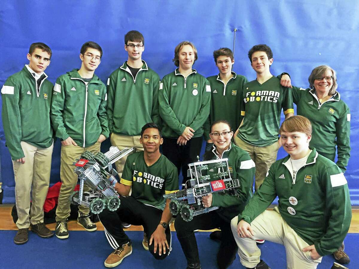 Contributed photosForman School students won a special sportsmanship award at the recent robotics competition at the University of New Haven.