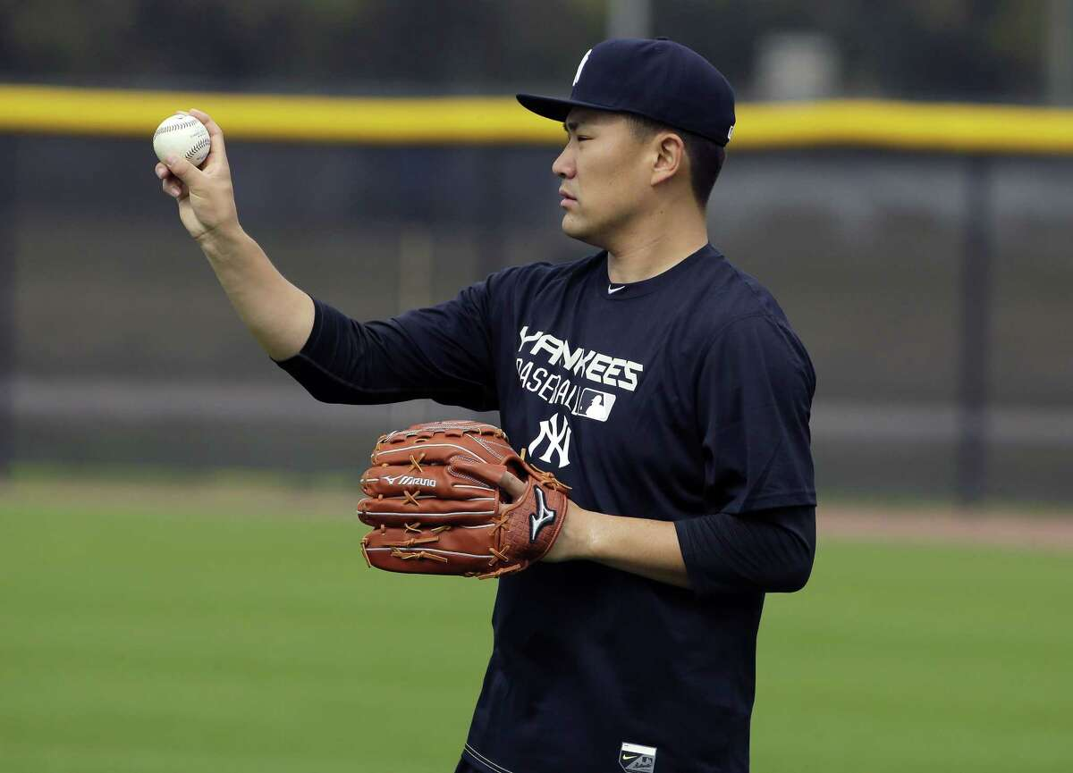 New York pitcher Masahiro Tanaka threw for 34 minutes at the Yankees' minor league complex on Tuesday in Tampa, Fla.