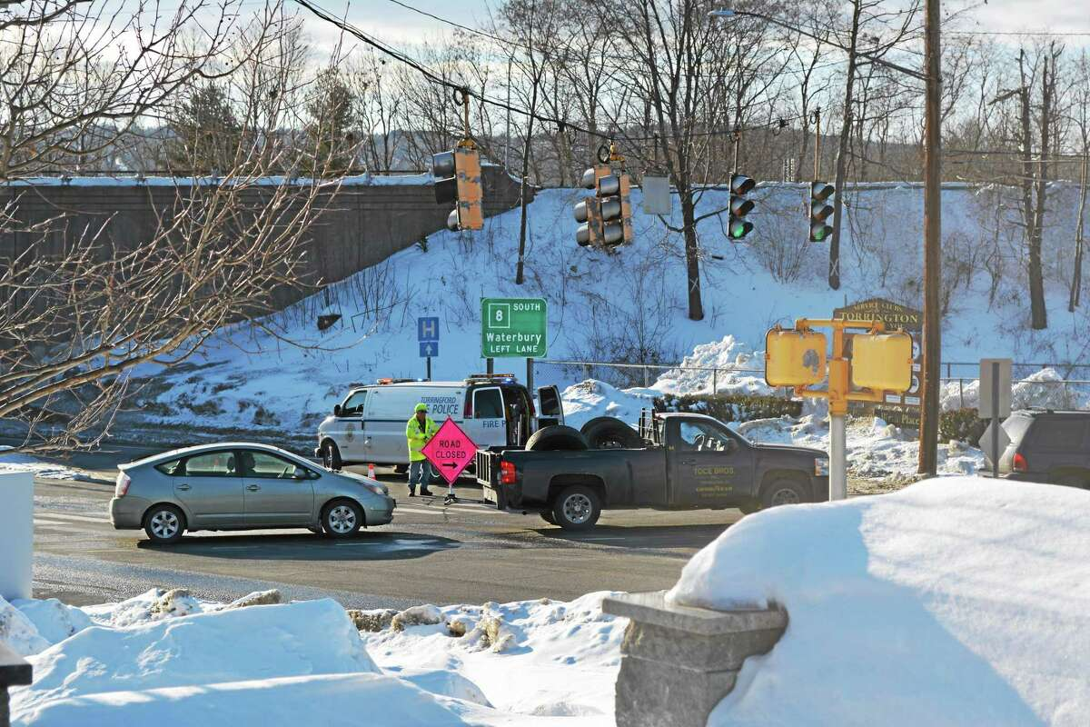 A gas leak has caused Route 202 to close.