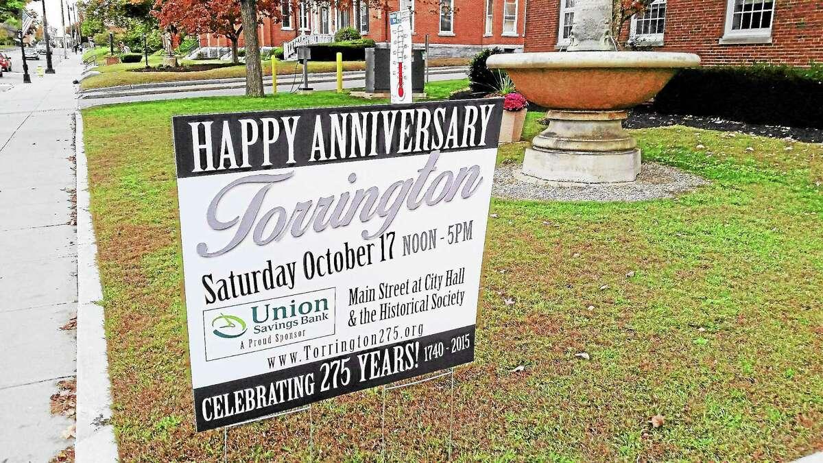 Ben Lambert — The Register Citizen The Torrington 275th anniversary celebration is scheduled to be held Saturday, Oct. 17.