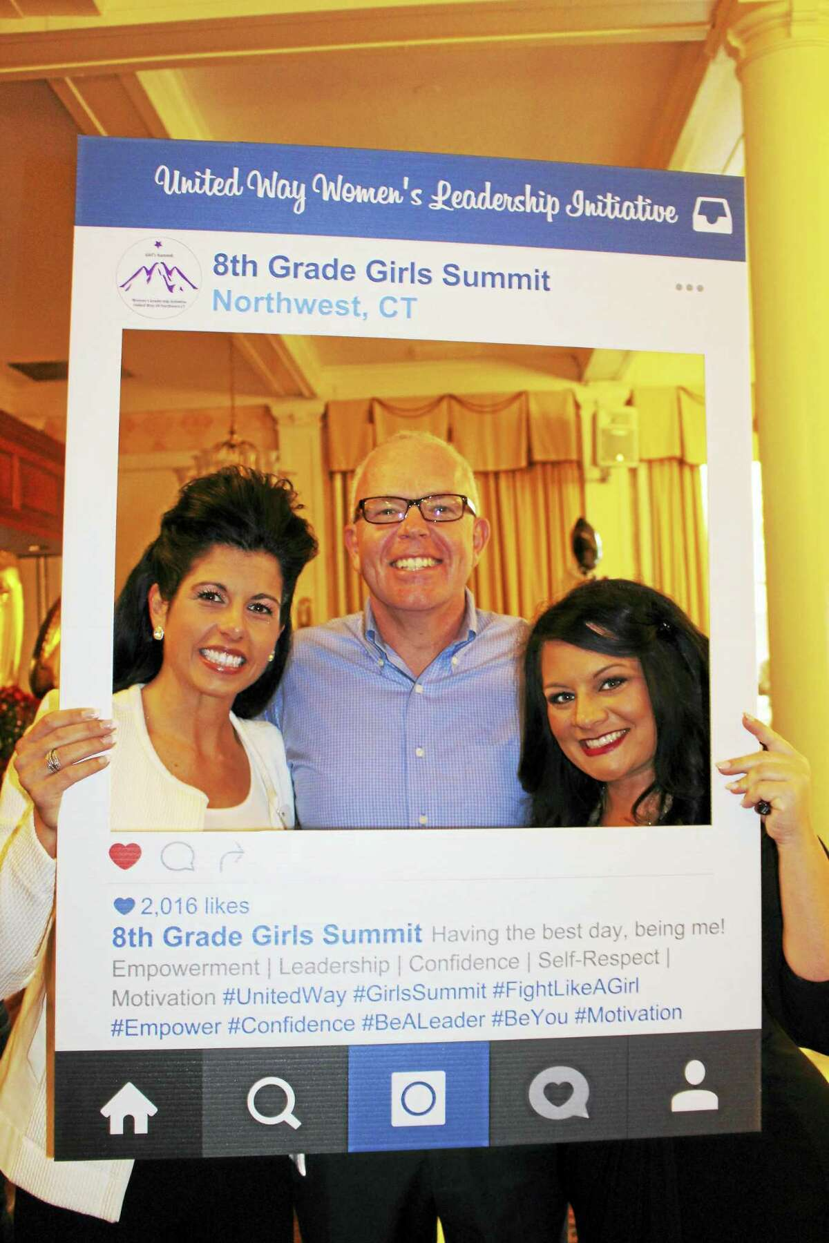 Contributed photosPresenters in the United Way's Girls Summit await their 200 eighth-grade girls at the Torrington Elks on Oct. 21.