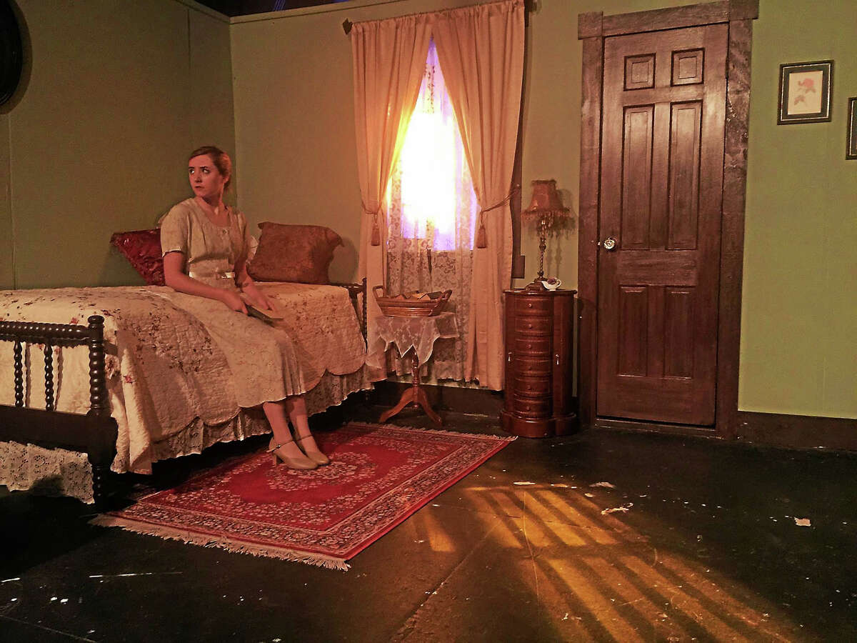 Contributed photo Veronica's Room stars Erin Shaughnessy as a young woman who arrives at the Brabissant Mansion and undergoes a strange experience with those who live there.