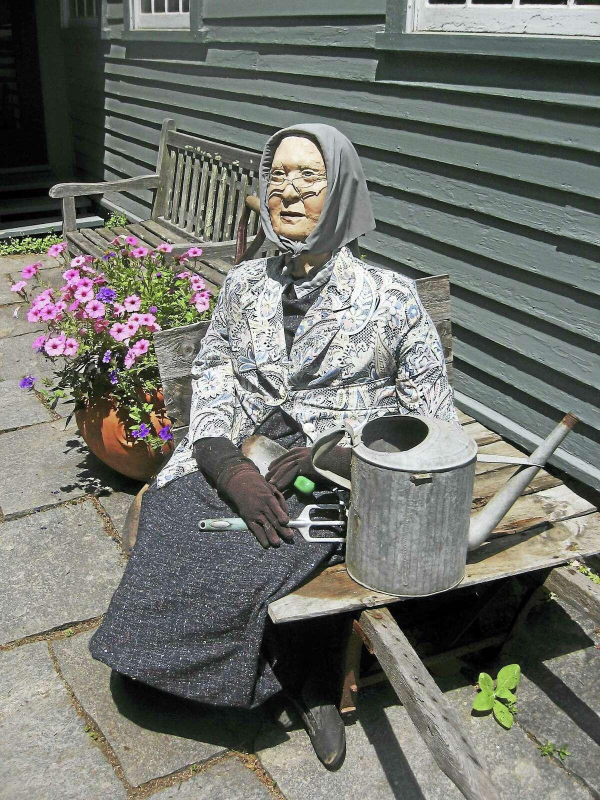 John Torsiello photo A rendering of Gertrude Jekyll keeps watch over her gardens.