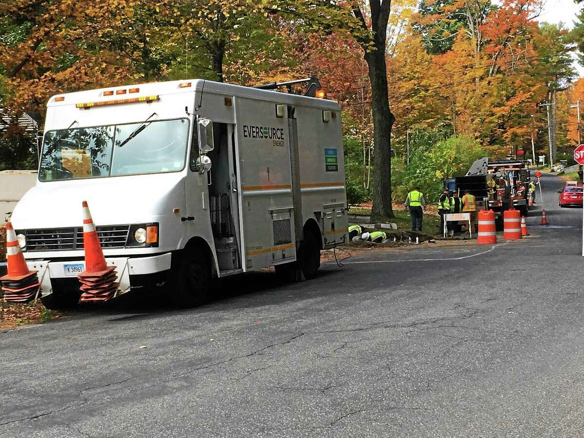 Firefighters were dispatched to 300 Cedar Lane around 8 a.m. after a construction crew hit a gas line Wednesday morning in Torrington, causing a leak.