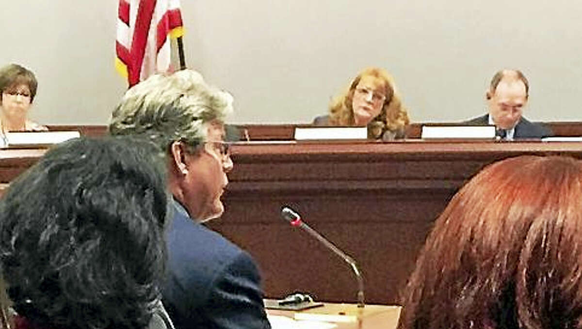 State Sen. Ted Kennedy Jr. testifies at Children's Committee public hearing.