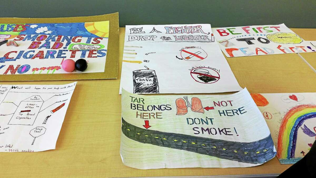 Local elementary school students were awarded certificates of achievement for their artwork and essays as part of the Tar Wars anti-smoking program.