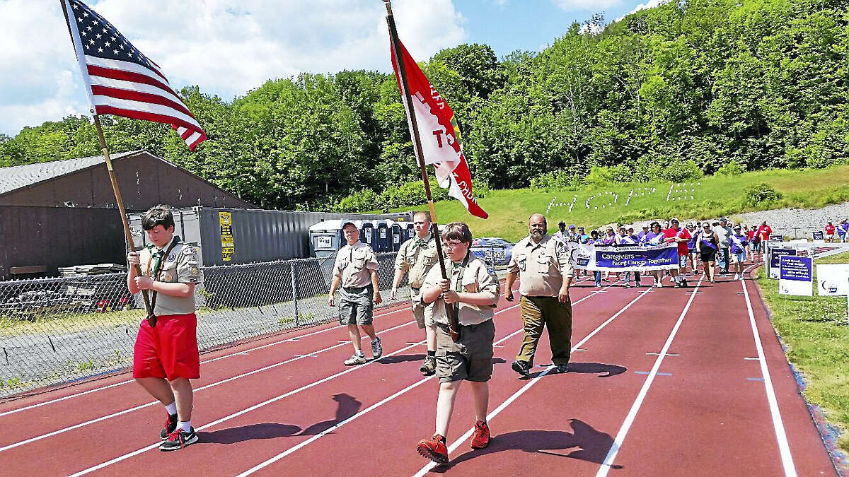n.f. ambery The 13th annual Relay for Life of Northwest Hills at Northwestern Regional High School's running track at 100 Battistoni Drive in Winsted on Saturday afternoon drew about 200 supporters. Organizers estimated that $23,000 would be raised from the fundraising event to benefit the American Cancer Society's cancer research and support services for people with cancer.
