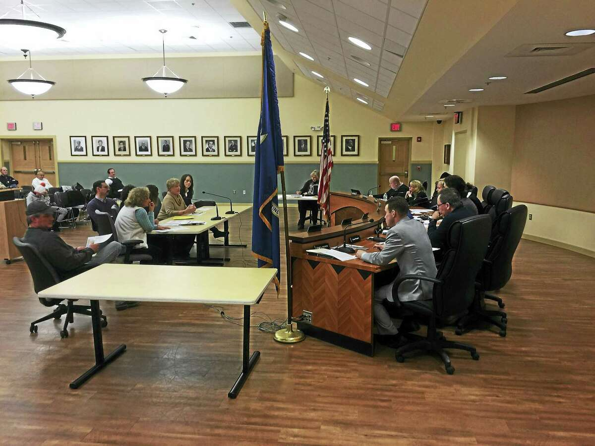 BEN LAMBERT — THE REGISTER CITIZEN Members of the Torrington Board of Education and school administrators met Tuesday with the Board of Finance to discuss how to prevent unbudgeted expenses from becoming pressing in years to come.