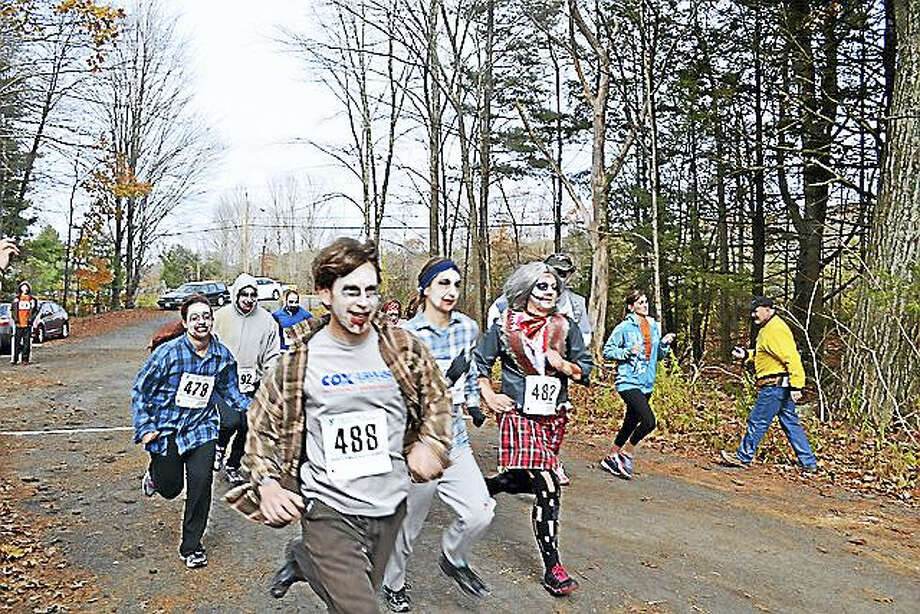The 5K Zombie Chase Challenge is back for a second year, taking place on Saturday at White Memorial Conservation Center in Litchfield. Find out more. Photo: Digital First Media