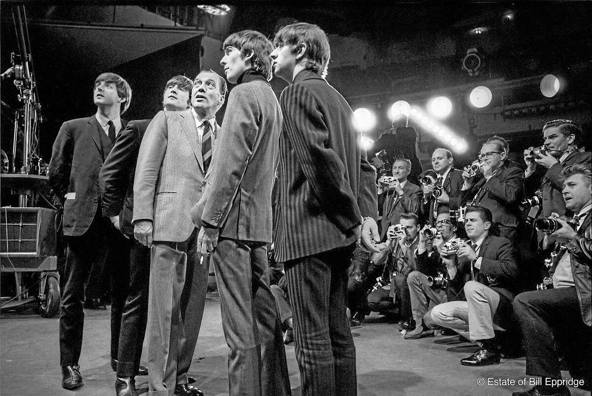 The Beatles at the Sunday dress rehearsal for the Ed Sullivan show in February 1964.