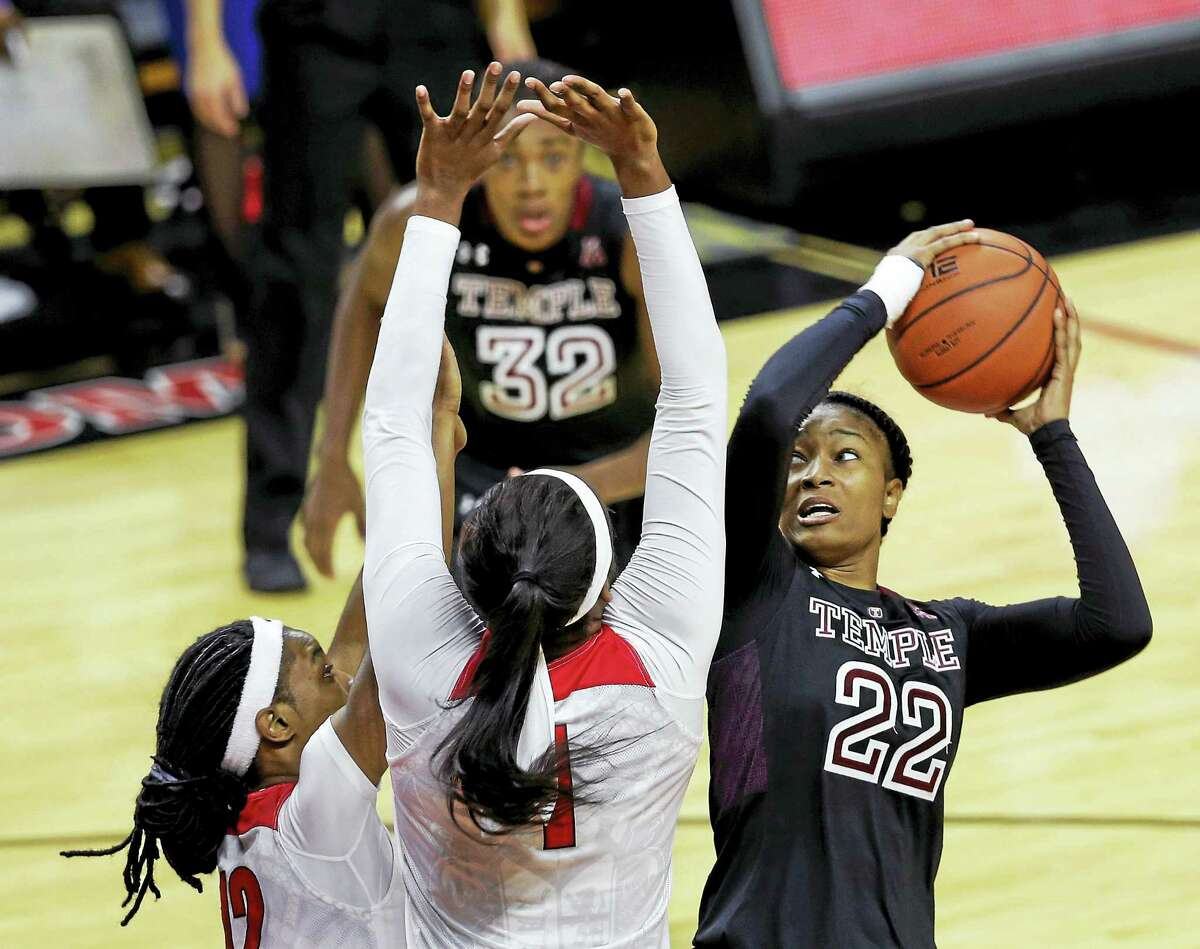 File photo - The Associated Press Former Career standout Tanaya Atkinson and Temple play host to UConn today.