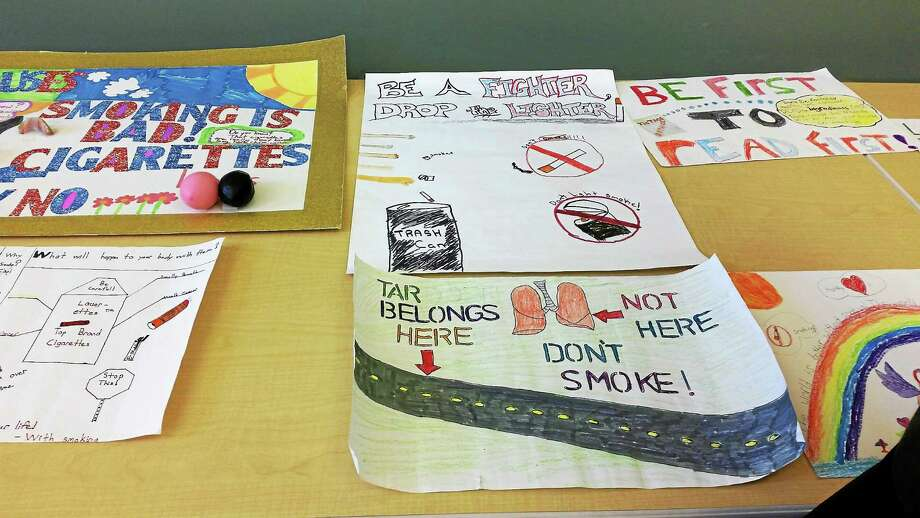 torrington tar wars posters deliver students anti smoking message  by amanda webster local elementary school students were awarded certificates of achievement for their artwork and