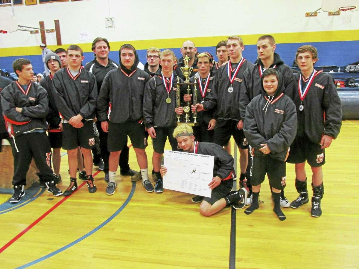Terryville's wrestling team won its second Berkshire-Valley Post-Season Invitational championship Saturday at The Gilbert School.