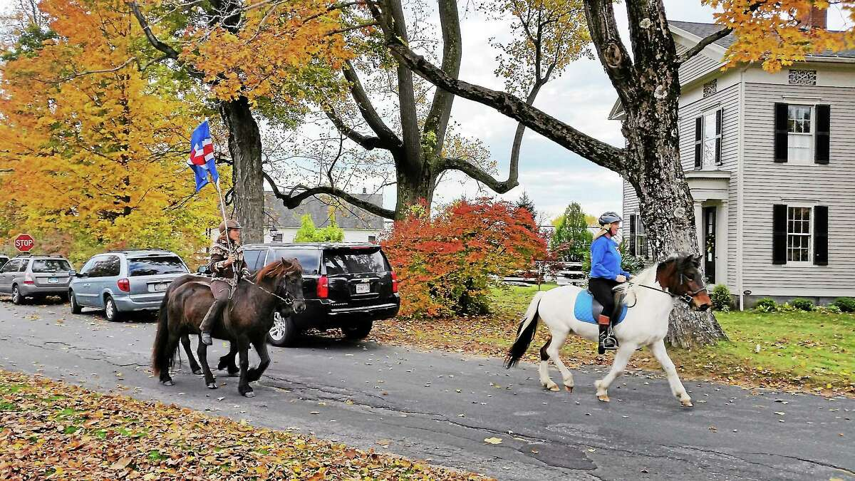Icelandic horse demonstrations narrated by Nancy Marie Brown of the U.S. Icelandic Horse Congress were a huge hit at the Winchester Center Green during the Iceland Affair in 2014.