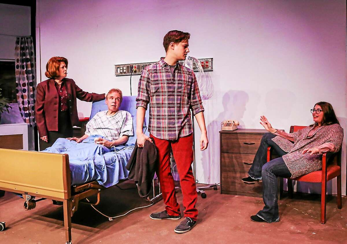 Photos by Richard Pettibone From left, Jody Bayer, William Hughes, Joseph Russo, and Courtney Lauria in a scene from