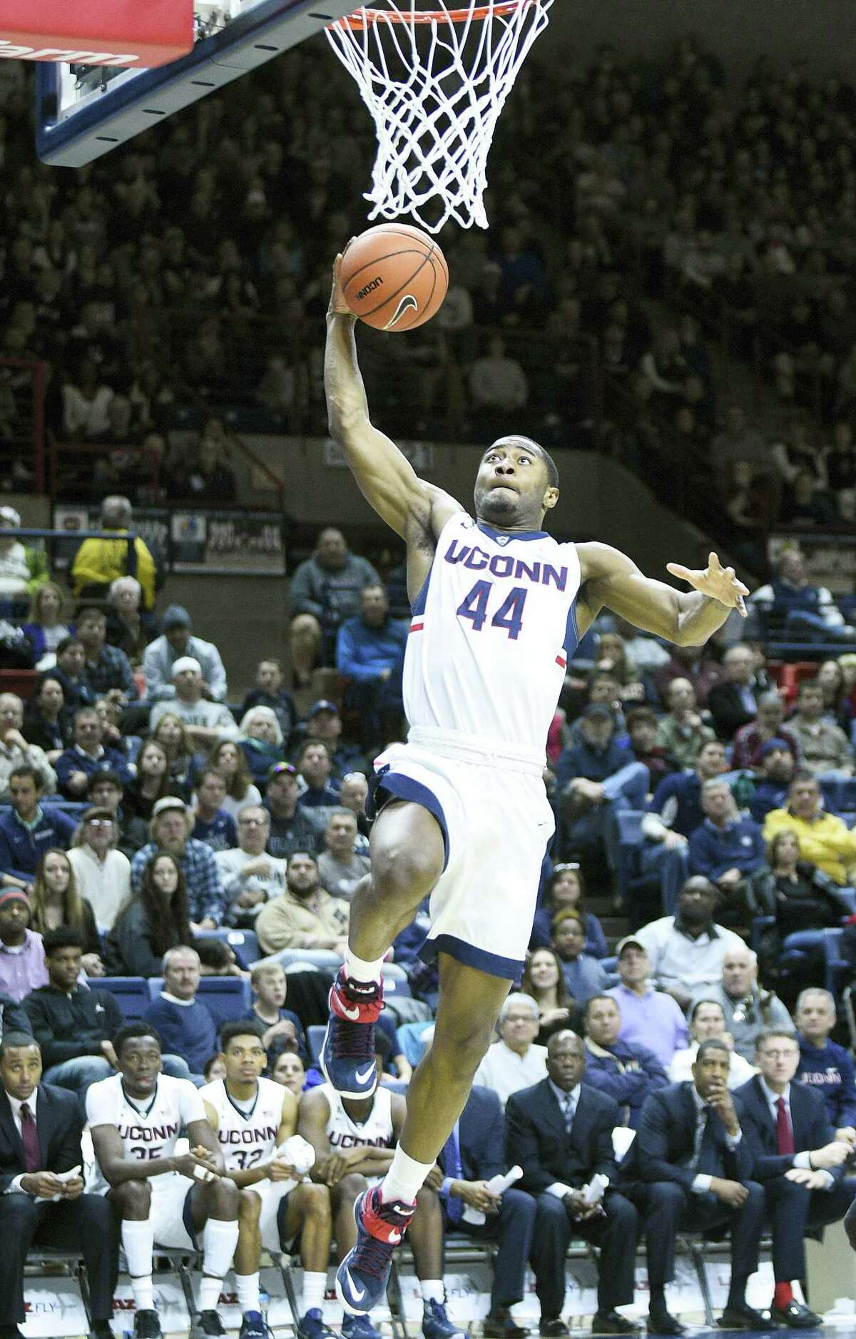 UConn's Rodney Purvis (44), who had a tough stretch during the Huskies collapse at Temple on Thursday, said he prefers to have a quick turn around and be able to play Tulsa today.