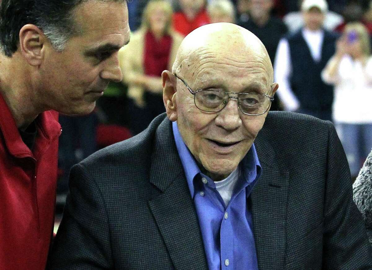 Family members say Hall of Fame basketball coach Jerry Tarkanian is hospitalized in Las Vegas with breathing trouble and some type of infection.