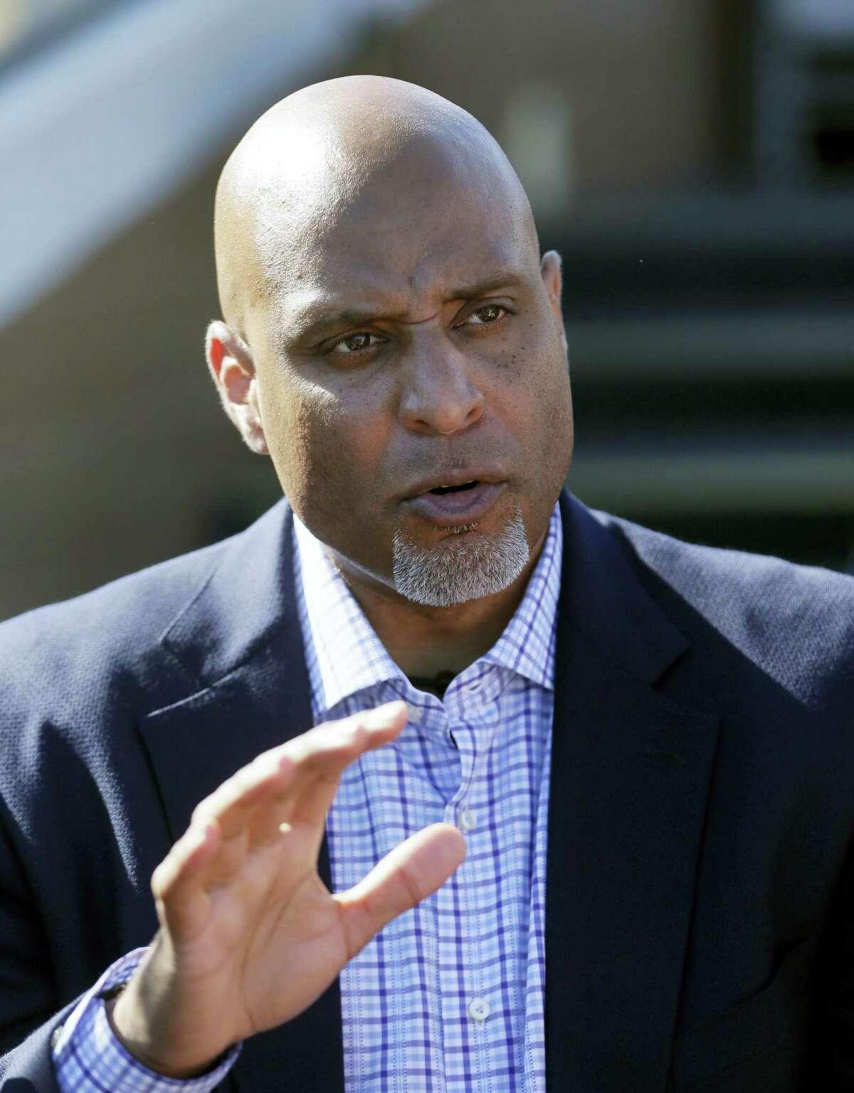 Major League Baseball Players Association executive and former Detroit Tigers first baseman Tony Clark.