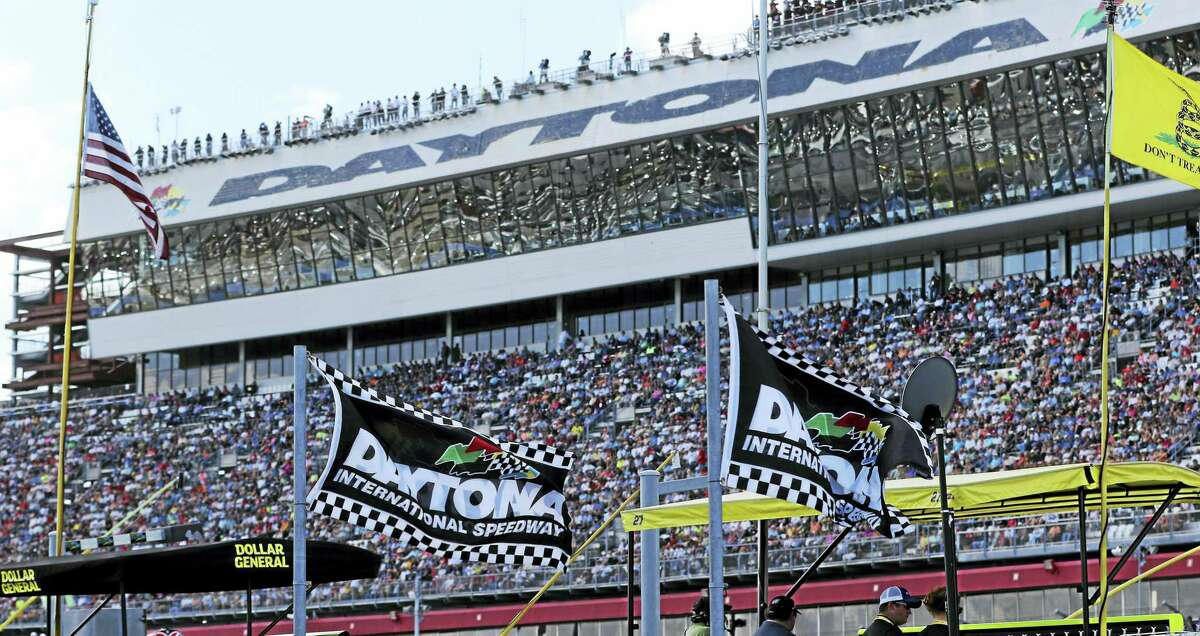 The grandstands during the Daytona 500 in 2015.