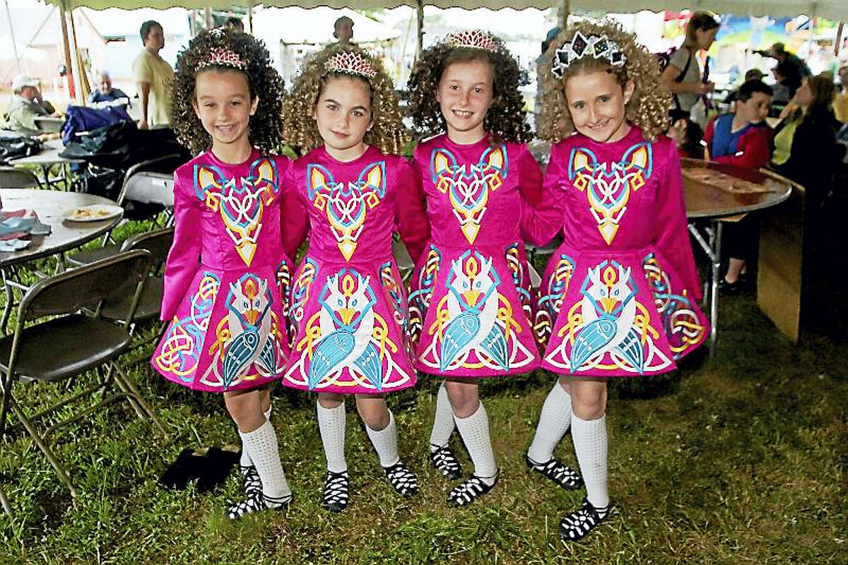 Little dancers at the Irish Festival.