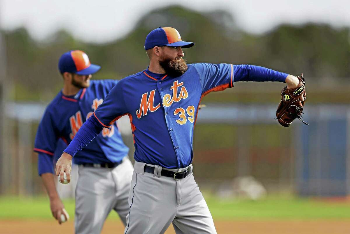 New York Mets pitcher Bobby Parnell throws during spring training in February in Port St. Lucie, Fla.