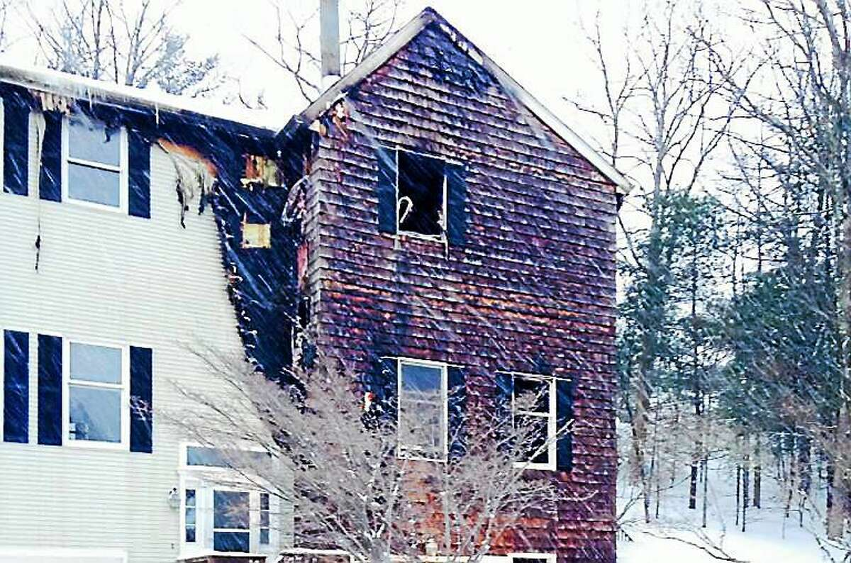 Firefighters from six area departments battled an early morning blaze at 601 Essex Court in Torrington, a condo building in the northern part of the city. No one was reported to be hurt in the blaze.
