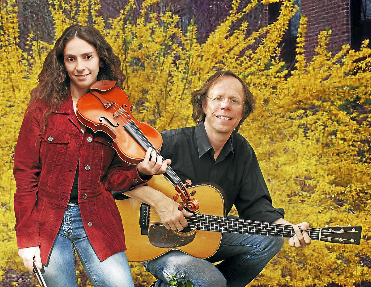 Notorious, comprised of Eden MacAdam-Somer, left, and Larry Unger, will perform in Branford Saturday night.