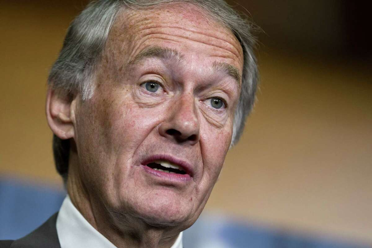 In this June 18, 2012 photo, Sen. Edward Markey, D-Mass., speaks on Capitol Hill in Washington. Markey asked automakers a series of questions about the technologies and any safeguards against hackers built into their vehicles.