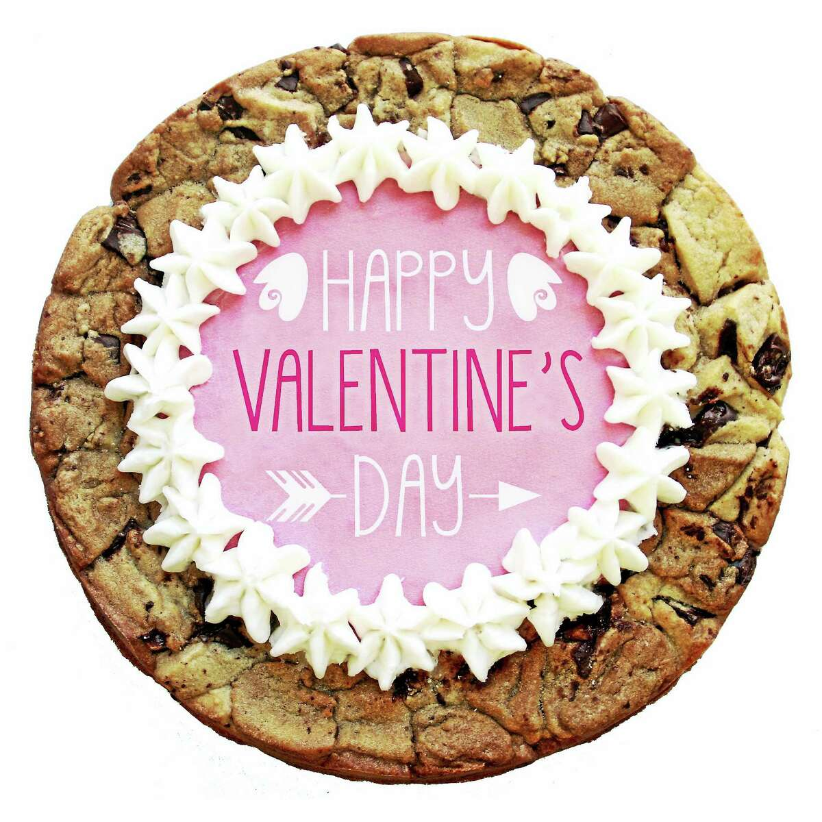 Insomnia Cookies will be offering a Valentine's Day chocolate chunk cookie cake for $18.