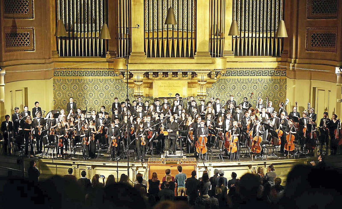 The Yale Symphony Orchestra at Woolsey Hall.