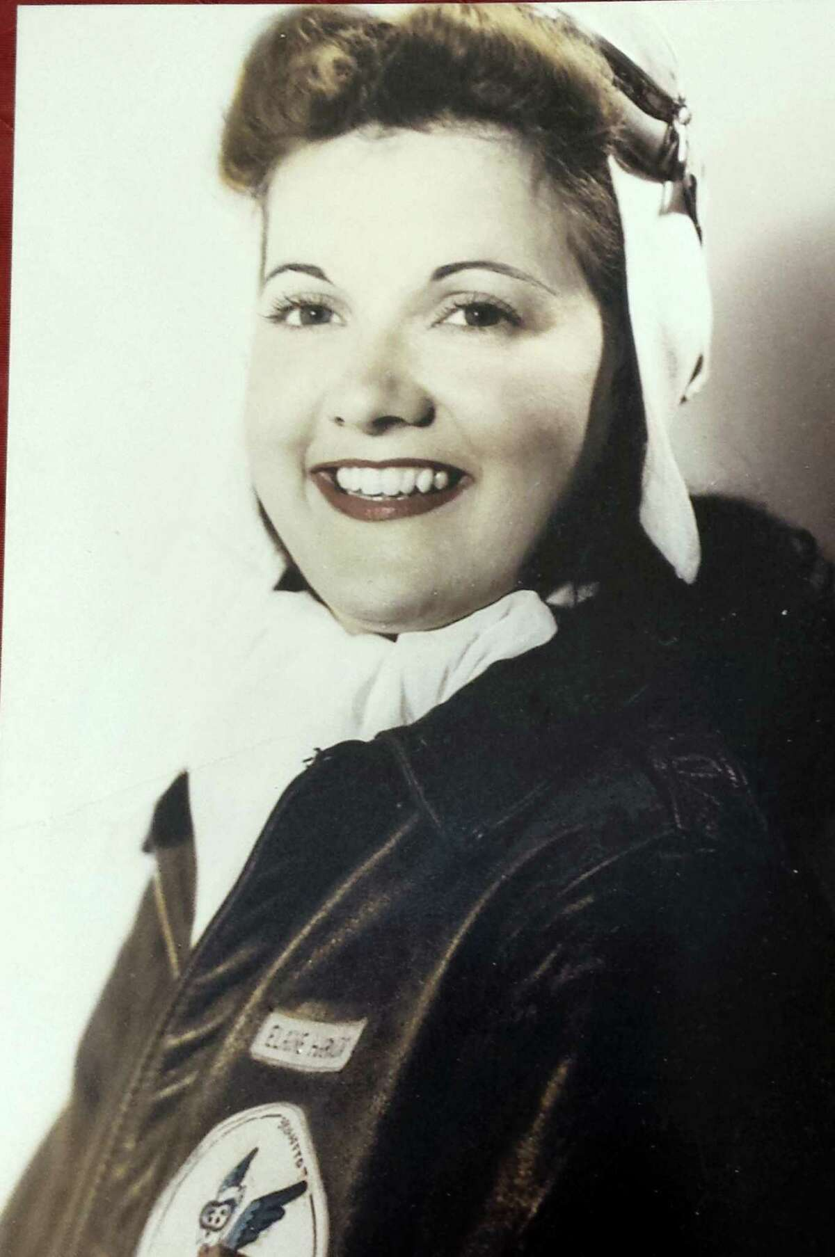 This Women Airforce Service Pilots (WASP), provided by the family, taken in the 1940s, shows Elaine Harmon. The ashes of World War II veteran Harmon are sitting in a closet in her daughter's home, where they will remain until they can go where her family says is her rightful resting place: Arlington National Cemetery.
