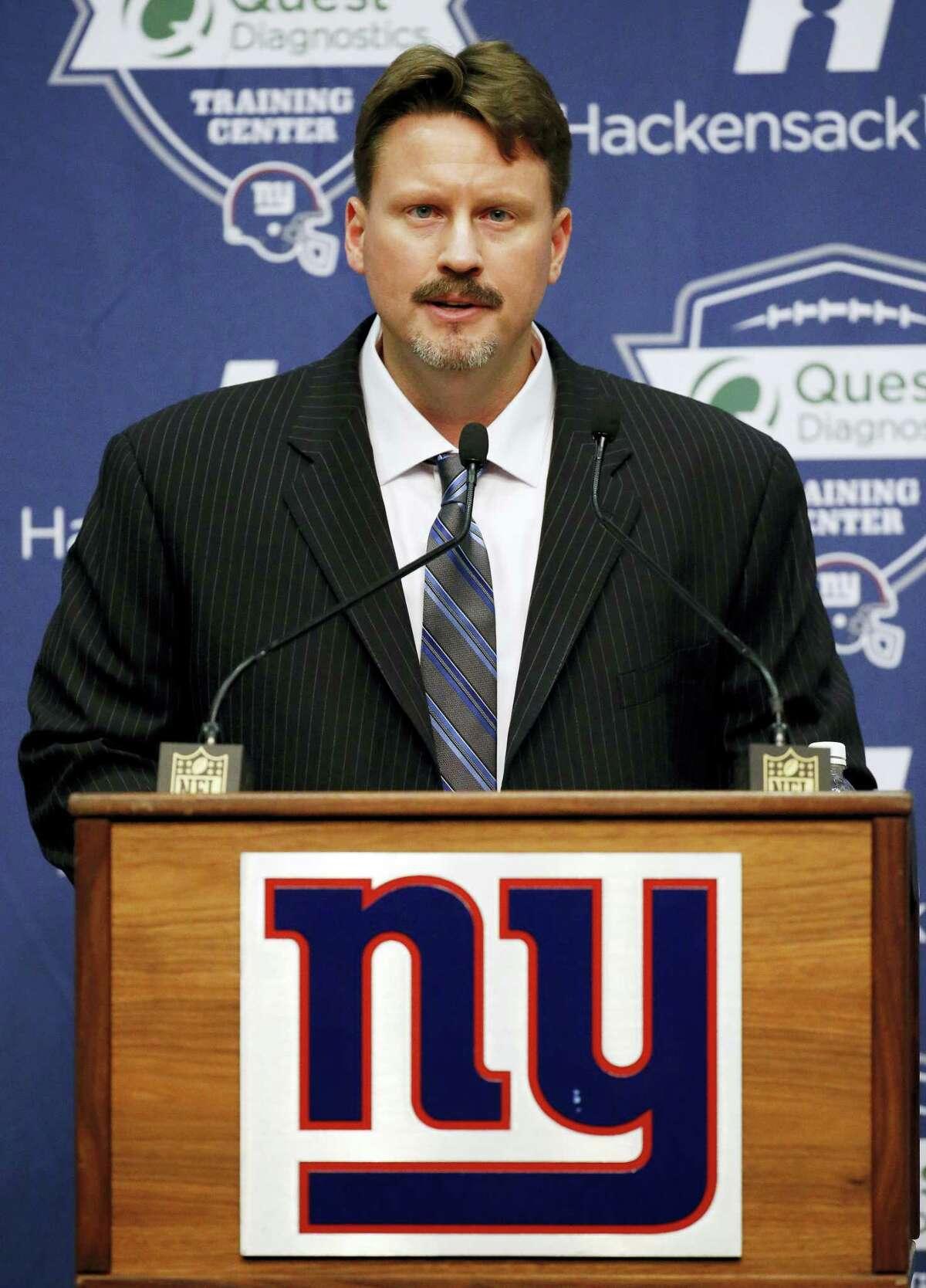 New York Giants head coach Ben McAdoo.