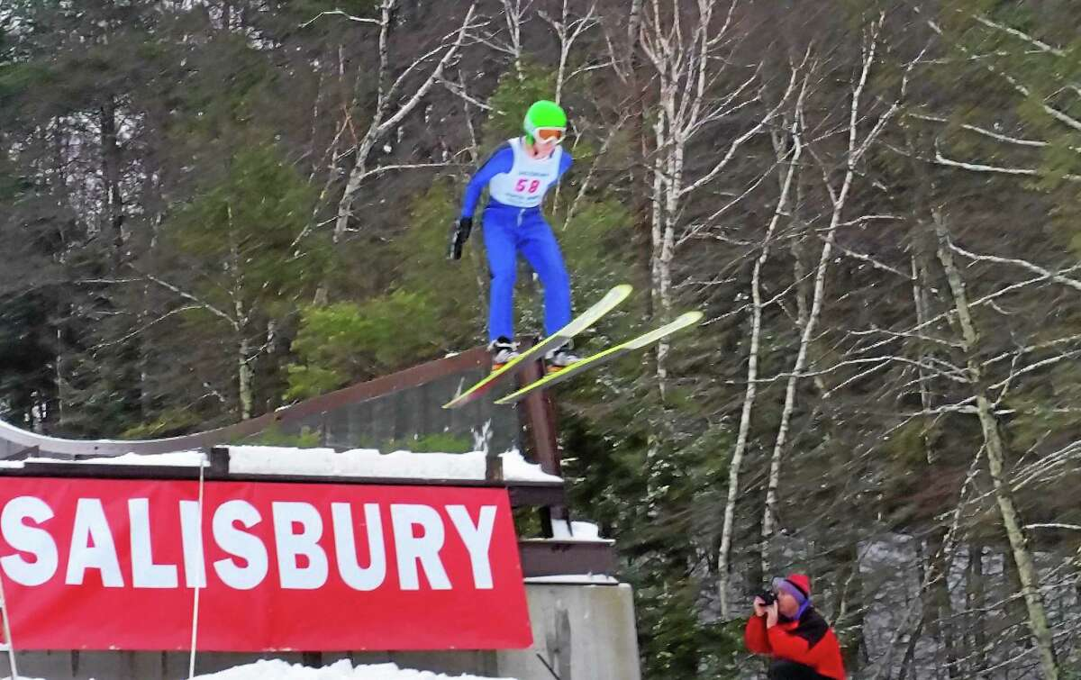 Jumpers compete at the annual Jumpfest in Salisbury on Sunday.