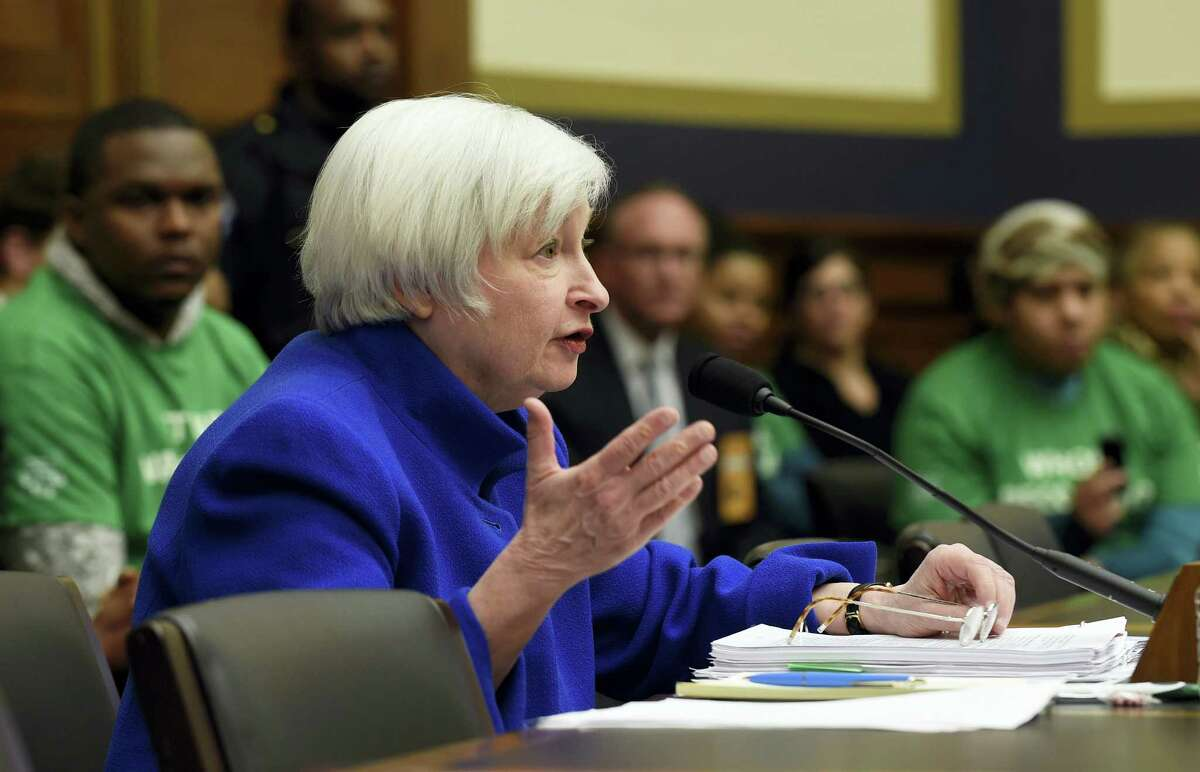 Federal Reserve Board Chair Janet Yellen testifies on Capitol Hill in Washington on Feb. 10, 2016 before the House Financial Services Committee hearing on monetary policy and the state of the economy.