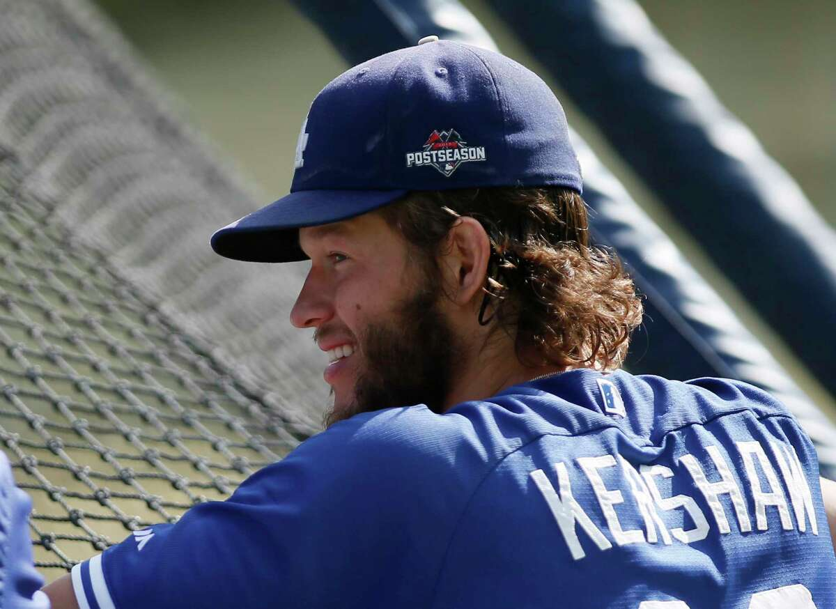 Dodgers pitcher Clayton Kershaw will start Game 1 against the New York Mets on Friday night in Los Angeles.