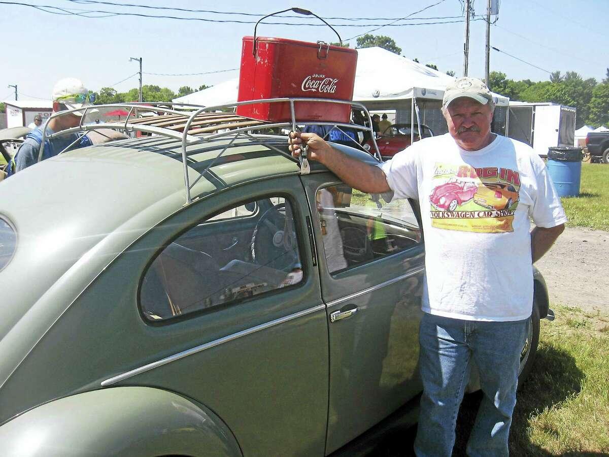 Photo by John TorsielloBug In organizer Chuck Pisconsky proudly displays his 1950 Beetle.