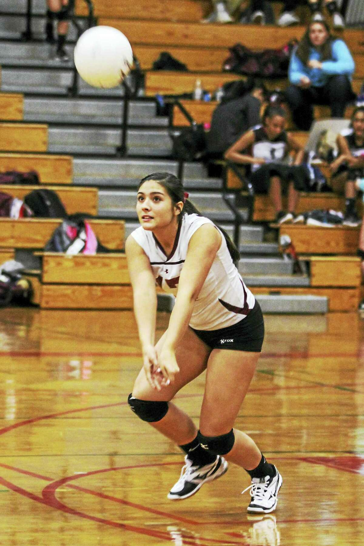 Torrington setter Jayleen Colon, good for 25 assists in Monday's win against Wolcott, authors the Raiders' ability to strike from anywhere.