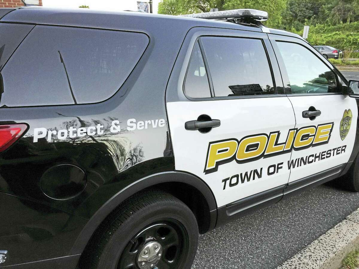 Ben Lambert - The Register Citizen A Winchester police vehicle, as seen outside of the station.