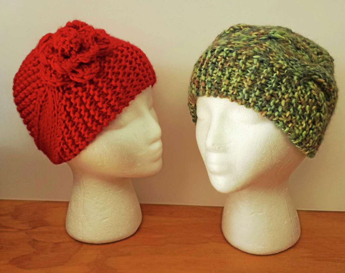 Photo by Ginger Balch Learn to knit a head band hat this Sunday, Oct. 11, at In Sheep's Clothing on Water Street in Torrington.