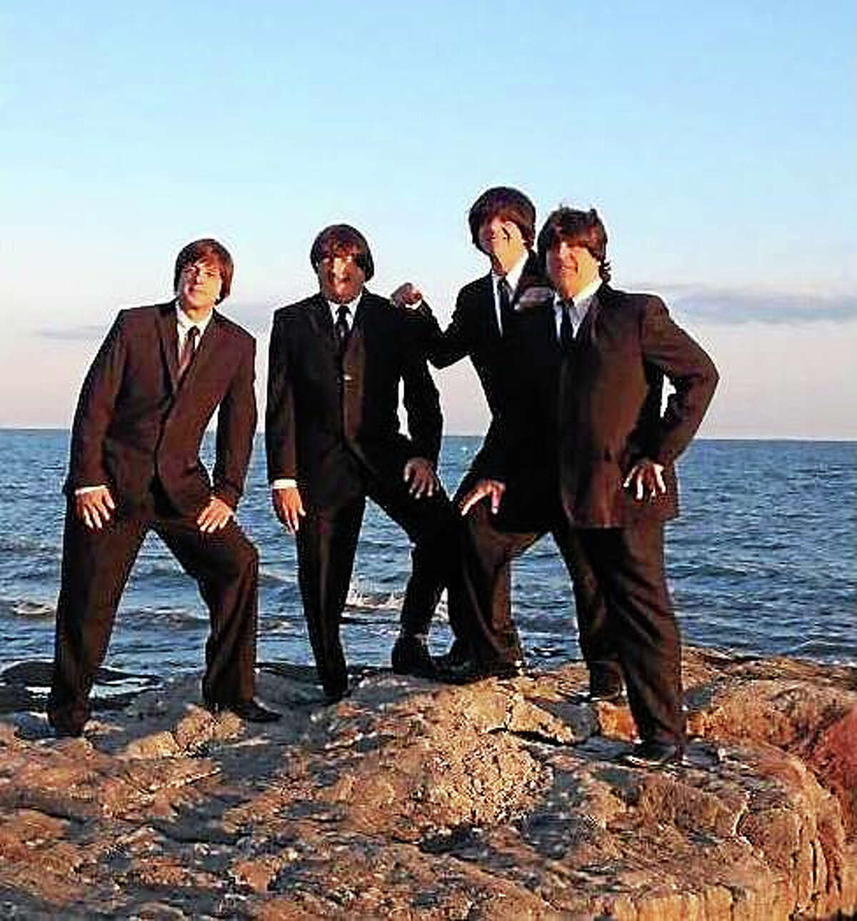 Contributed photos The Beatles tribute band, Ticket to Ride, will perform on John Lennon's 75th birthday, Oct. 9, at Bridge Street Live in Collinsville.