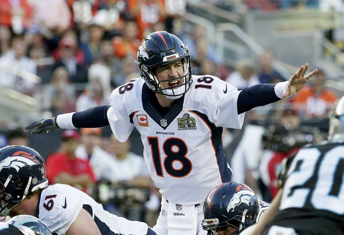 Denver Broncos' Peyton Manning (18) has given himself the opportunity to retire a champion, though he would not confirm if Sunday was his final game.
