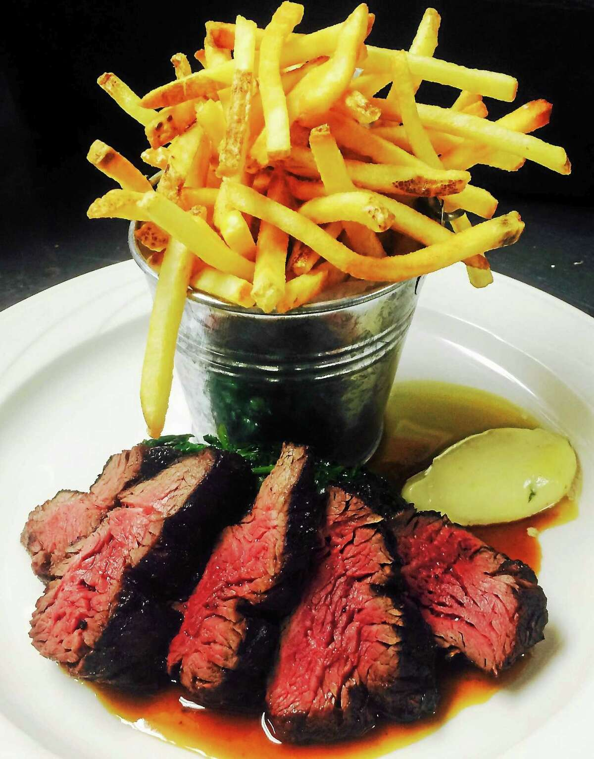 Steak and fries at John's Cafe.