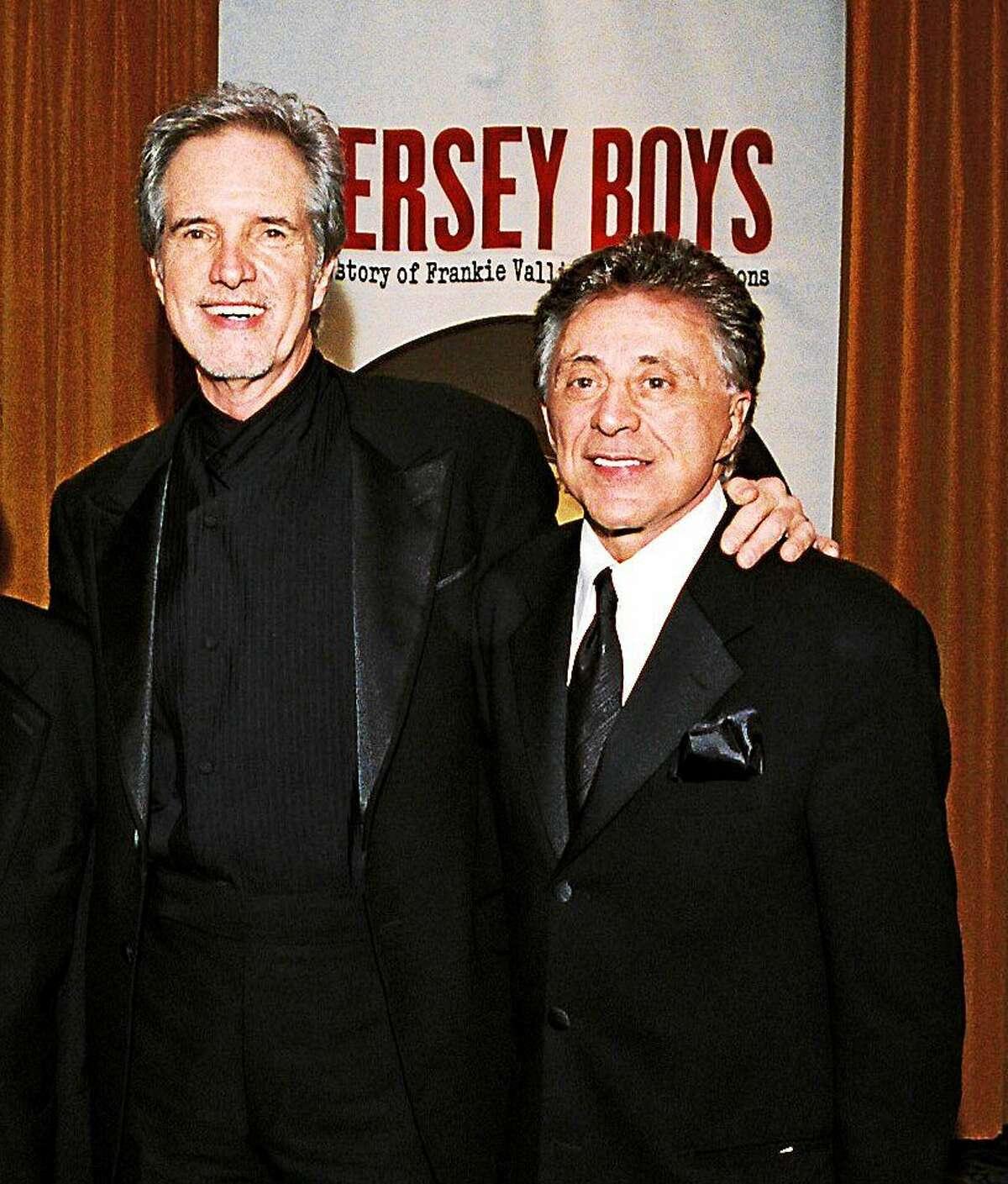 Bob Gaudio, left, wrote the music for those Four Seasons' classics, and Franki Valli.